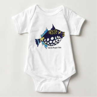 Salt and Pooper Fish Funny Baby Baby Bodysuit