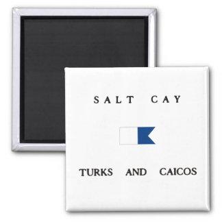 Salt Cay Turks and Caicos Alpha Dive Flag Magnets