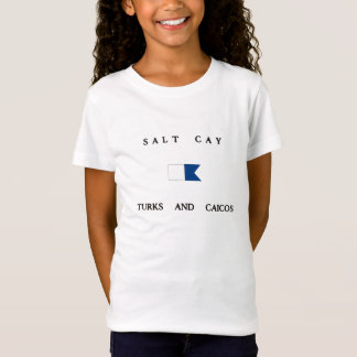 Salt Cay Turks and Caicos Alpha Dive Flag T-Shirt