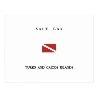 Salt Cay Turks and Caicos Islands Scuba Dive Flag Postcard