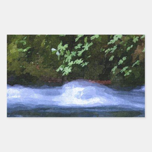 Salt Creek at Blue Pool Artwork Stickers