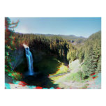 Salt Creek Falls, Oregon 3D Anaglyph Poster