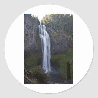 Salt Creek Falls Oregon Round Stickers