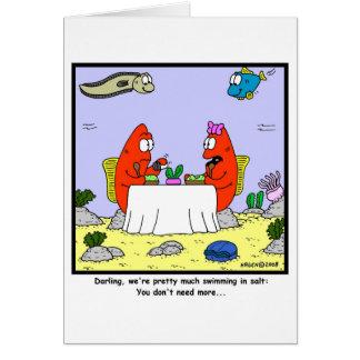 Salt: Fish Cartoon Greeting Card