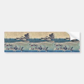 Salt gathering at Suzaki by Andō, Hiroshige Ukiyo- Bumper Stickers