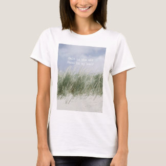Salt in the air coastal quote womens' t-shirt