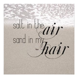 Salt in the Air Sand in my Hair Photo Print