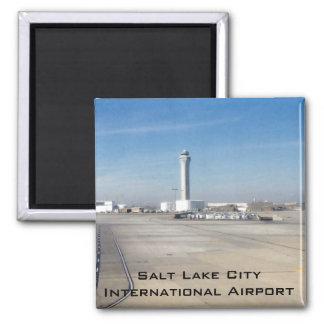 Salt Lake City International Airport Square Magnet