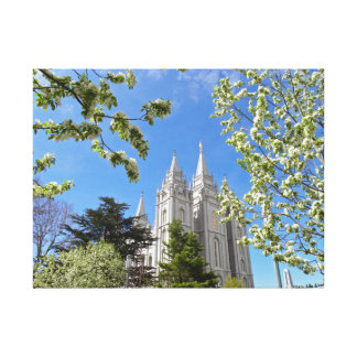 Salt Lake City LDS Temple Stretched Canvas Print