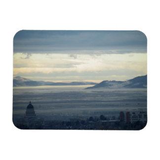 Salt Lake City Rectangular Photo Magnet