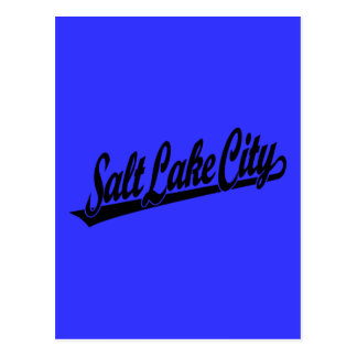 Salt Lake City script logo in black Postcard
