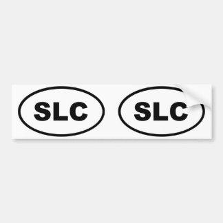 Salt Lake City SLC oval Bumper Sticker