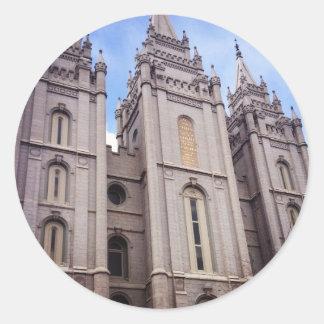 Salt Lake City Temple Classic Round Sticker