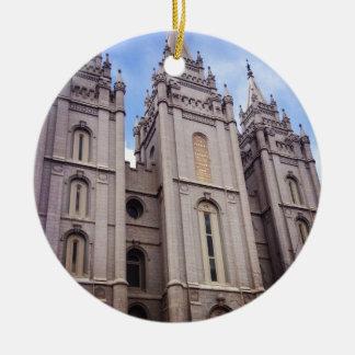 Salt Lake City Temple Round Ceramic Decoration