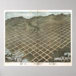 Salt Lake City Utah 1870 Antique Panoramic Map Poster