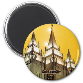 Salt Lake City, Utah 6 Cm Round Magnet