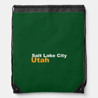Salt Lake City, Utah Drawstring Backpack