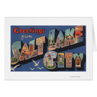 Salt Lake City, Utah - Large Letter Scenes 2 Card