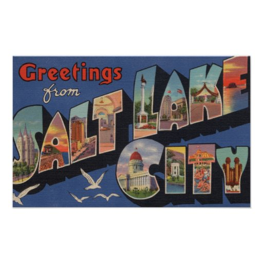 Salt Lake City, Utah - Large Letter Scenes 2 Posters