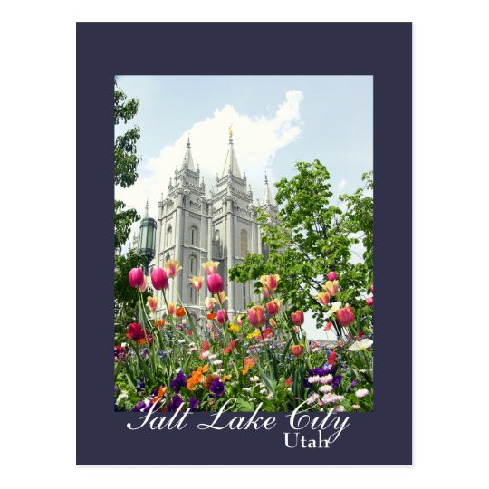 Salt Lake City, Utah Mormon Temple Postcard