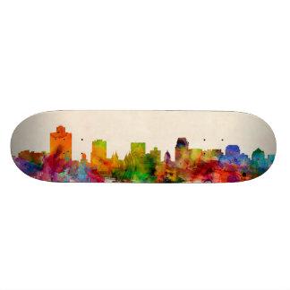 Salt Lake City Utah Skyline Cityscape Skate Board Deck