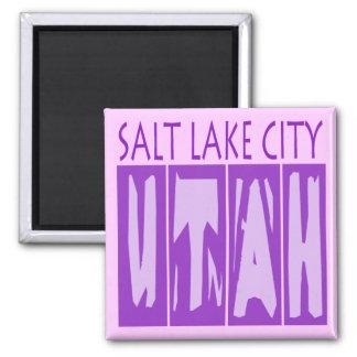 SALT LAKE CITY UTAH SQUARE MAGNET