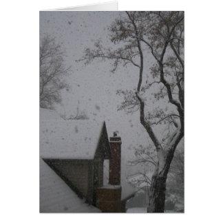 Salt Lake City winter Greeting Card