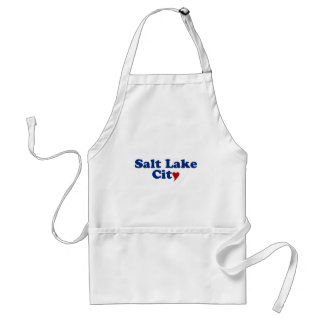 Salt Lake City with Heart Adult Apron