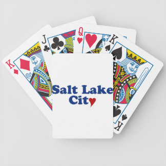 Salt Lake City with Heart Bicycle Card Deck