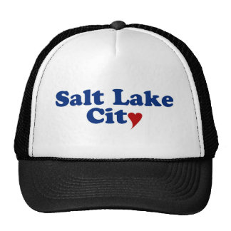 Salt Lake City with Heart Mesh Hat