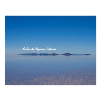 Salt Lake in Salar de Uyuni, Bolivia Postcard