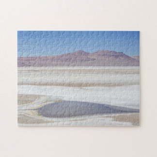 Salt Lake On The Road To Argentina Jigsaw Puzzle