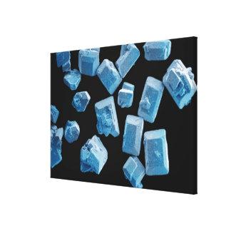 Salt (NaCl) crystals Canvas Print