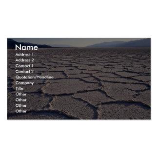 Salt patterns, Death Valley National Park, Califor Pack Of Standard Business Cards