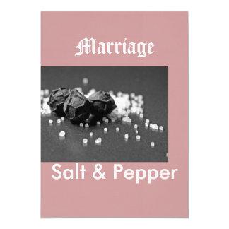 Salt & Pepper 13 Cm X 18 Cm Invitation Card