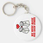 Salt & Pepper Basic Round Button Key Ring