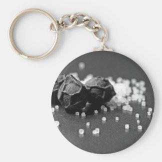 Salt Pepper Macro Image In Studio Basic Round Button Key Ring