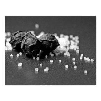Salt Pepper Macro Image In Studio Post Card
