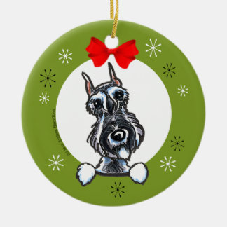 Salt Pepper Schnauzer Christmas Classic Christmas Ornament