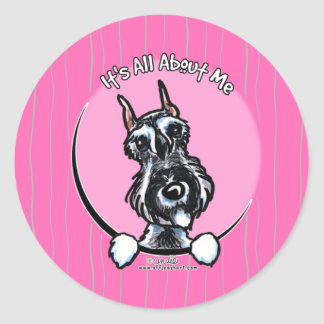 Salt Pepper Schnauzer IAAM Classic Round Sticker