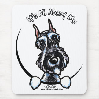 Salt Pepper Schnauzer IAAM Mouse Mat