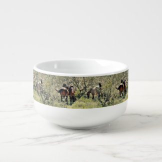 Salt River Mustang Horses Soup Bowl