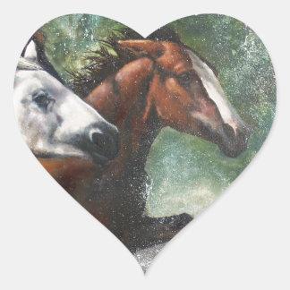 Salt River Wild Horses Heart Sticker