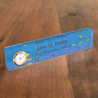 Salt Water Aquarium Desk Nameplate