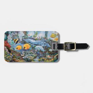 Salt water aquarium luggage tag