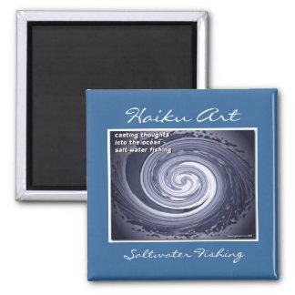 Salt Water Fishing Haiku Art Magnet
