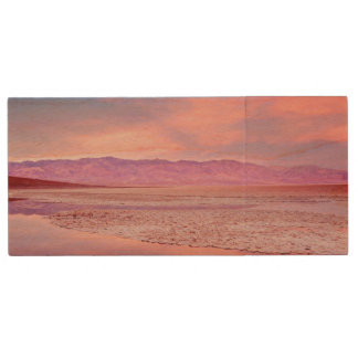 Salt Water Lake, Badwater, Death Valley Wood USB 2.0 Flash Drive