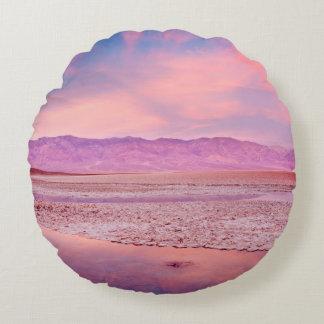 Salt Water Lake, Badwater, Death Valley Round Cushion
