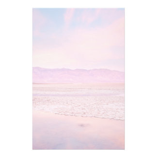 Salt Water Lake Death Valley Customized Stationery