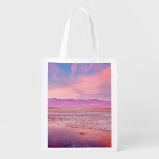 Salt Water Lake Death Valley Reusable Grocery Bag